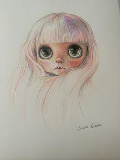 Ilustración muñeca Blythe #blythe #blythedoll www.musaenfuga.blogspot.com