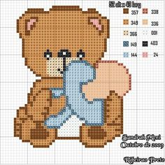 Thrilling Designing Your Own Cross Stitch Embroidery Patterns Ideas. Exhilarating Designing Your Own Cross Stitch Embroidery Patterns Ideas. Baby Cross Stitch Patterns, Cross Stitch Baby, Cross Stitch Kits, Cross Stitch Charts, Cross Stitching, Cross Stitch Embroidery, Embroidery Patterns, Beading Patterns, Teddy Bear