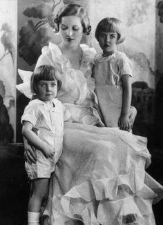 Diana Mitford Guinness  and sons.