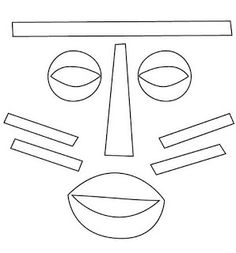 African masks to color with the class! African masks to paint! African Crafts Kids, African Art For Kids, African Art Projects, Etnia Racial, Kids Klub, Cardboard Mask, Tracing Art, Traditional Japanese Tattoos, History Projects