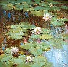 Resultado de imagen para water lilies painting