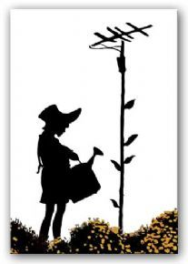 Banksy Flower Aerial Canvas Art Painting | Canvas Art Paintings