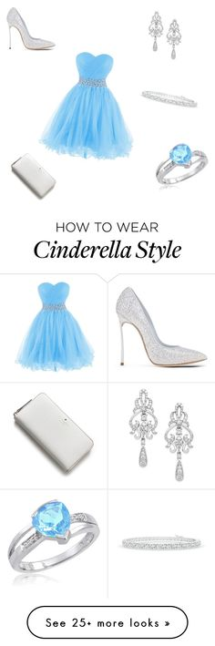 """So Cinderella!"" by luv-panda on Polyvore featuring Casadei, Kate Spade and Wrapped In Love"
