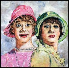 """""""Lemmon & Curtis"""" from the film """"Some Like it Hot"""" Needle felted wool over foam x — 2016 Dale Roberts, Wool Felt, Felted Wool, Felt Art, Needle Felting, Saatchi Art, Original Paintings, Portrait, Cotton Fabric"""