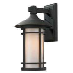 Woodland Oil Rubbed Bronze Outdoor Wall Light Z Lite Wall Mounted Outdoor Outdoor Wall L