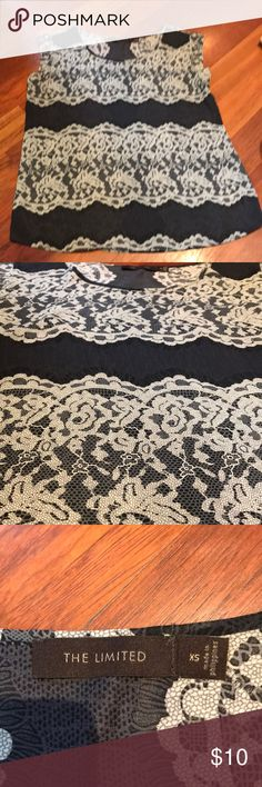 Sheer lace design limited shirt New without tags sheer lace design limited shirt! The Limited Tops