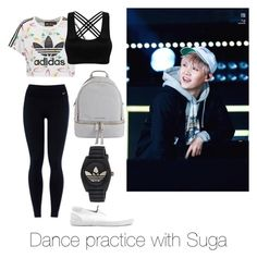 """Dance practice with Suga"" by bts-outfit-imagines on Polyvore featuring adidas Originals, NIKE, Topman, adidas and MICHAEL Michael Kors"