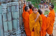 """Yes, Angkor is a tourist attraction, but the ruins are also religious temples."""