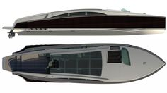 Kit Carlier Design combines classic gentleman's cruiser styling, limo tender luxury and high-tech propulsion and electronics to create the Chimera metre yacht tender Chimera, Yacht Design, Limo, Design Firms, Taxi, Gentleman, Luxury, Classic, Yachts