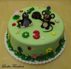 Krteček :) Birthday Cake, Desserts, Films, Tv, Food, Character, 80th Birthday Cakes, Fondant Cakes, Postres