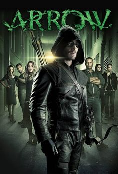 """""""Arrow"""" - Spoiled billionaire playboy Oliver Queen is missing and presumed dead when his yacht is lost at sea. He returns five years later a changed man, determined to clean up the city as a hooded vigilante armed with a bow. (2012-____)"""