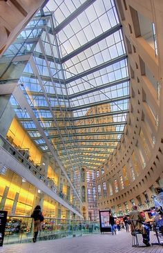Vancouver Public Library, British Columbia, Canada is an amazing public space filled with light. And books, of course. World's Most Beautiful, Beautiful Places, All Over The World, Around The Worlds, Architecture Cool, Vancouver Architecture, Library Architecture, Beautiful Library, Central Library