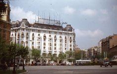 Madrid Street Scene 1955 Palace Hotel 35mm Slide Spain