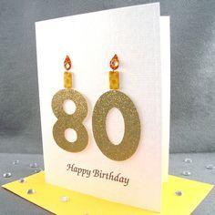 80th Birthday Card - Milestone Birthday - via Etsy.