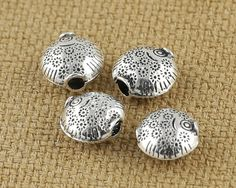 Sterling Silver Spacer Beads 925 Antique Bali Silver by fantasy369