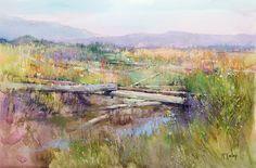 Summer Driftwood by Richard McKinley Pastel ~ 12 x 18
