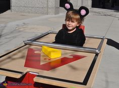 Mouse Trap - DIY Halloween Costume. You cannot tell me that you don't find this cute!  <3
