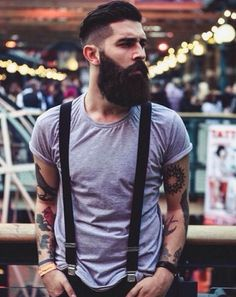 Hair Styles Men Hipster Full Beard 44 New Ideas Nigeria Fashion, Growing A Full Beard, Hipster Fashion, Mens Fashion, John Millington, Hipster Stil, Men Hipster, Beard Growth Oil, Thick Beard