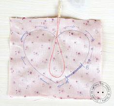 Hobby di Carta - Il blog: Tutorial Cuore di stoffa imbottito