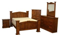 Mansion Estate Style Rustic Bedroom Set with Stars