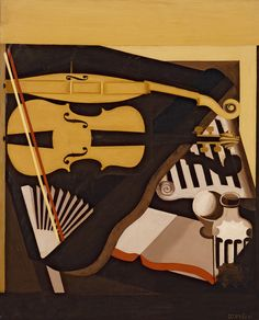 """amare-habeo: """"  Amédée Ozenfant (French, 1886 - 1966) Still Life with Violin, 1919 Oil on canvas, 101 x 81 cm """""""