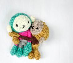 Cute crochet amigurumi from WereRabbit2006. Lovely design & colours.