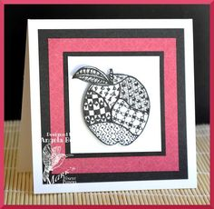 QFTD219 - An apple for Queen Janine by ohmypaper! - Cards and Paper Crafts at Splitcoaststampers