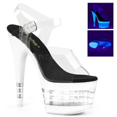 Pleaser Adore-789RS Shoes Platform Sandals High Heels Ankle Collar Pole Dancing