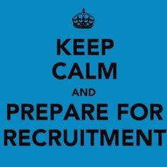 keep calm and prepare for recruitment.