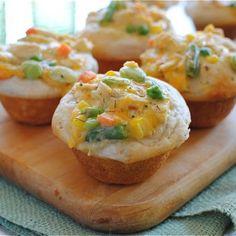 Chicken Pot Pie Muffins Recipe   Key Ingredient