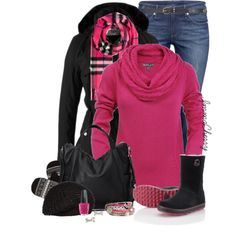 Winter in Pink, created by immacherry on Polyvore