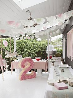 Pretty carousel themed birthday party