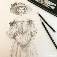 #Dessin de eeva nikunen au #Crayon graphite de Faber-Castell #Castell9000