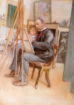 Шведский художник Карл Улоф Ларссон (1853-1919). Часть IV: philologist