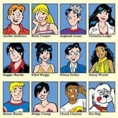 Archie & the Riverdale gang Comics Und Cartoons, Archie Comics Characters, Archie Comic Books, Archie Cartoon, Funny Comics, Archie Comics Riverdale, Archie Comics Strips, Archie Comics Veronica, Archie Comics