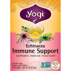 Shop the best Yogi Tea Echinacea Immune Support 16 Bag(s) products at Swanson Health Products. Trusted since we offer trusted quality and great value on Yogi Tea Echinacea Immune Support 16 Bag(s) products. Pure Green Tea, Tea Blends, My Tea, Nutrition Information, Organic Recipes, Health And Nutrition, Drinking Tea, Natural Health, Peppermint