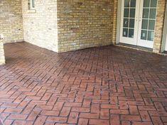 Herringbone Pattern Stamped Concretelove This Pattern