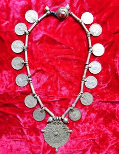Vintage Banjara ( Lambani ) Indian tribal silver coin necklace by Vintageethnicindian on Etsy https://www.etsy.com/listing/281156570/vintage-banjara-lambani-indian-tribal