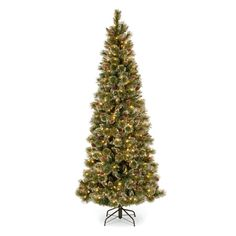 National Tree Company Glittering Slim Pre-lit Christmas Tree - GB3-304PD-50M