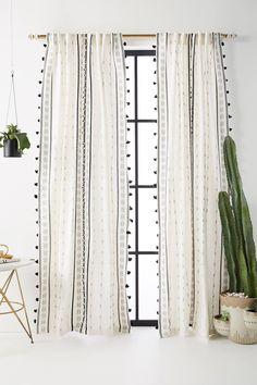 Araya Curtain by Anthropologie in Black, Curtains Source by anthropologie Curtains Decor, Home Decor Inspiration, Room, Custom Drapes, Interior, Curtains Living Room, Bedroom Design, Home Decor, Curtains