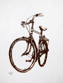 Prints And Drawings Gallery Bicycle Paintings Prints And Custom