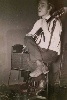 A very young Brian Jones of the Rolling Stones, early 1960's