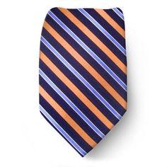 Coral-Navy-Light Blue Nautica Tie