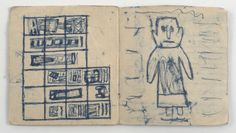 """James Castle, 'Untitled (""""Wings"""" book, Gooding School interior drawings)', n.d., Fleisher/Ollman   Artsy"""