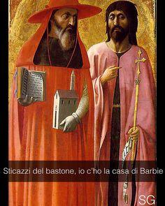 Girolamo e Giovanni Battista - Masaccio (1428)  #seiquadripotesseroparlare  #StefanoGuerrera  Snapchat: stefanoguerrera