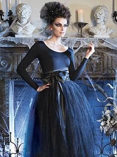 Get into haunting Halloween spirit  with this Tulle Skirt with Sash that's sure to scarily complete any ensemble this fall.