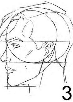 Human Head Drawing Side