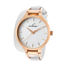 A Line - Ladies' Gemini Watch in White and Rose Gold