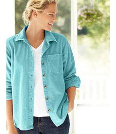 #LLBean: Comfort Corduroy Big Shirt