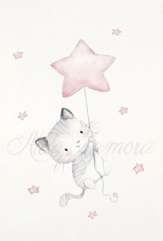 Maus Illustration, Illustrations, Watercolor Animals, Watercolor Art, Animal Drawings, Cute Drawings, Baby Drawing, Bunny Art, Cat Wall